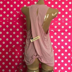 Draped Back Tie Tank / Dusk Pink / L